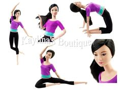 Barbie Made to Move Barbie Doll - Ultimate Posable Asian Purple Top Articulated #Mattel #DollswithClothingAccessories
