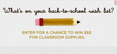 Enter Edutopia's Back-To-School Supplies Giveaway for your chance to win a $250 gift card to spend on back-to-school supplies. Giveaway ends August 26, 2012 at 6:00 p.m. (PDT) http://www.edutopia.org/giveaway #contests