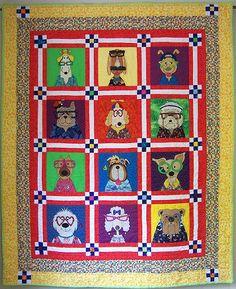 Pieced+Dog+Quilt+Patterns+Free | DOG QUILTING PATTERNS | Free Patterns