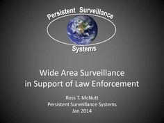 Corporate Presentation: Persistent Surveillance Systems Wide Area Surveillance in Support of Law Enforcement Presentation
