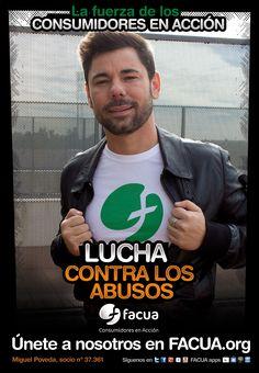 Miguel Poveda, socio de FACUA nº 37.361, llama a los consumidores a la lucha contra los abusos