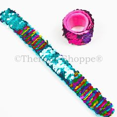 Sequin Fidget Bracelets from the Therapy Shoppe; another helpful wearable fidget tool for skin pickers, fingernail biters, hair pullers, and other sensory seekers.