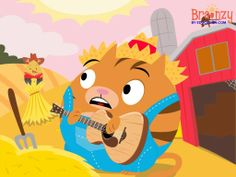"""Sing the classic """"Down By The Bay"""" with Roly, Birdee, and Floyd! This country twist on the song is a twangy and catchy way to learn rhymes, and it's full of fun surprises! #educational #video #kids #song #brainzy #downbythebay #country #rhyme #rhyming"""