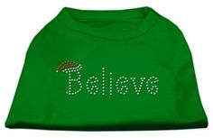 Mirage cat Products Believe Rhinestone Shirt, Small, Emerald Green ** You can get additional details, click the image : Cat Apparel