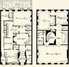 New York Townhouse Floor Plans | Avery Architectural Archives