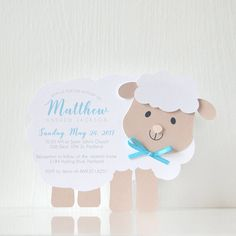 Little Lamb Invitations: birthday, card, party invitation, baptism, communion, christening, girl birthday, boy party, baby shower- LRD043P by LaReveuseDesign on Etsy https://www.etsy.com/listing/509265448/little-lamb-invitations-birthday-card