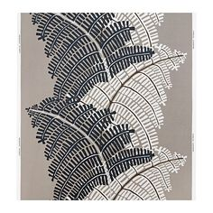 STOCKHOLM Tissu au mètre, fougère, gris/beige