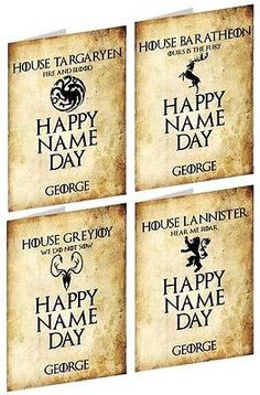 #Personalised game of thrones (great/noble #houses) #inspired birthday card,  View more on the LINK: 	http://www.zeppy.io/product/gb/2/221995977244/