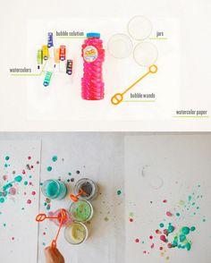 Bubble Paint DIY @ lacasadecotó