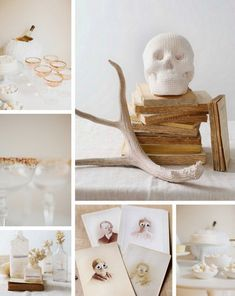 Check Out 33 Elegant White Halloween Decor Ideas. White is not a traditional color for Halloween decor but it looks so beautiful and sophisticated! Halloween 2017, Holidays Halloween, Halloween Themes, Vintage Halloween, Halloween Tricks, Favorite Holiday, Holiday Fun, October Baby Showers, Pure White