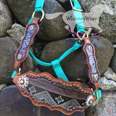 Custom made to order, Aztec print bronc halter. Email whinneywear@yahoo.com to order   www.whinneywear.com