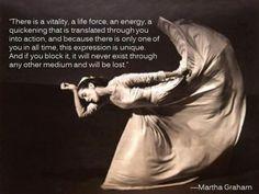 Wise Modern dance words by Martha Graham