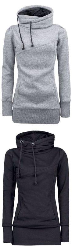 Long hooded sweatshirt – (Cupshe)
