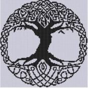 Celtic Tree Cross Stitch Pattern  - via @Craftsy