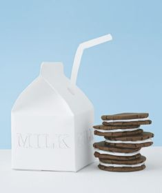 It;s Paper!!Paper construction of milk and cookies by Matthew Sporzynski