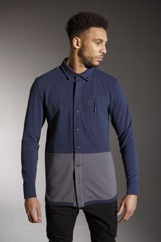 The 'LADD' Shirt - £45 - http://www.voijeans.com/blackout/ladd-polo-black-iris.html
