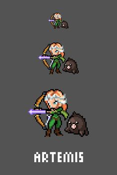 Artemis Emote / Sprite we made for Smitewww.twitch.tv/smitegame