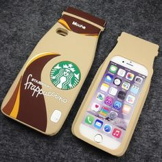 Starbucks 3D Mocha Frappucino case. Available on  iphone 6, 6s, 6 plus and 6s plus,5, and 5s. Samsung Galaxy Note 4 and 5  Samsung Galaxy S4,S5, and S6 http://www.cazecraze.com/collections/starbucks/products/starbucks-3d-mocha-frappucino-case
