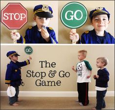 4 activities teaching summer safety stop & go game