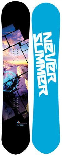 Never Summer Lotus... one of the few women's snowboards I'm in LOVE with