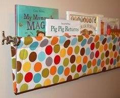 Children's Book Sling - Riley Blake Puppy Park Multi Dots - 47 inches. $30.00, via Etsy.