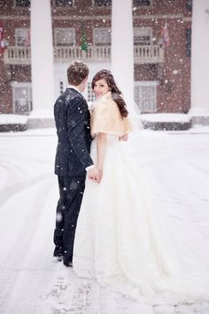 6 Reasons to Consider a Winter Wedding - 1. It's going to cost less. Since winter is a less desirable time for weddings, your services are going to be way cheaper. Most vendors are hungry for business between December and March, so you'll be able to choose ones you really want and have more room to negotiate.