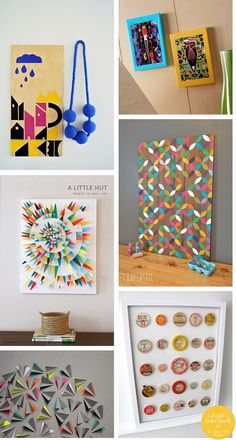 Ohoh Blog - diy and crafts: DIY Monday # Wall art