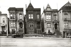 Photo of Old Historic Houses in San Francisco  by VintageShowcase