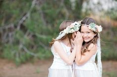 View More: http://photos.pass.us/jenny-and-jeff Cutes flower girls ever - soft pink sweet peas, white lace, succulents