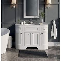 Buy the Butler & Rose Charlotte Floorstanding Vanity Unit & Basin - Almond White from Tap Warehouse and save on our great range of traditional vanity units. The Butler & Rose Charlotte range comes in a choice of two finishes and a lifetime guarantee. Basin Vanity Unit, Basin Unit, Bathroom Vanity Units, Loft Bathroom, Bathroom Ideas, Inset Basin, Basin Taps, Traditional Vanity Units, Traditional Design