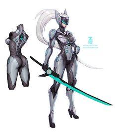 Cyborg Ninja by Zeronis on DeviantArt Female Character Design, Character Concept, Character Art, Concept Art, Arte Ninja, Female Armor, Sci Fi Armor, Sci Fi Characters, Cyberpunk Art