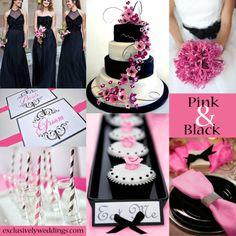 Pink and Black Wedding | #exclusivelyweddings  | #weddingcolors
