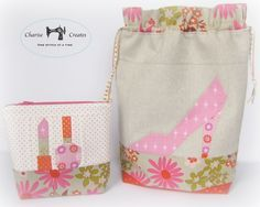 Beautiful bag set - what a gorgeous gift set for a girly girl :) From Charise Creates: *Patchwork Pattern 318 Blog Hop and Give Away* - she posts a picture of the paper piecing patterns :)