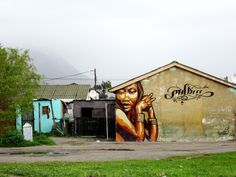 In Langa, the oldest township around Cape Town, art is also present. It represents a beautiful means of expression. Cape Town, Backdrops, Sunshine, Old Things, African, The Incredibles, Tours, House Styles, Travel