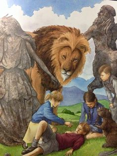 Narnia- Lucy heals the wounded and injured Edmund