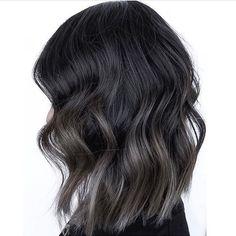 Dark grey hair color products steel gray addicted to . Dark Grey Hair Color, Grey Ombre Hair, Brown Hair Balayage, Brown Blonde Hair, Hair Color Balayage, Cool Hair Color, Brown Hair Colors, Hair Highlights, Gray Color