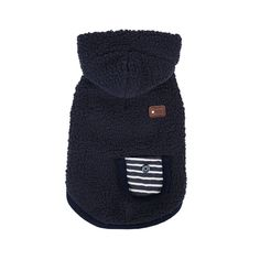 Pinkaholic New York Wooly Reversible Hooded Fleeced Winter Pet Sweater, Small, Navy * Amazing product just a click away  : Dog sweaters