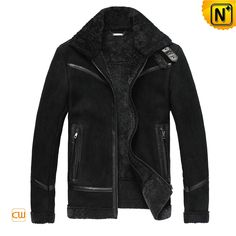 Men's Casual Real Fur Lined Leather Jacket CW819329 $1218.89 - www.cwmalls.com