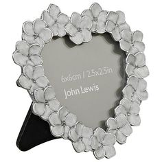 "Buy John Lewis Petal Heart Photo Frame, Ivory, 2.5 x 2.5"" (6 x 6cm) Online at johnlewis.com"