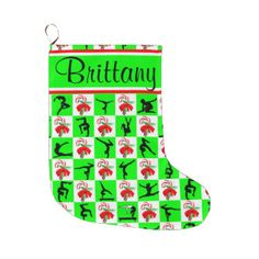 CHRISTMAS CANDY CANE GYMNAST PERSONALIZED STOCKING LARGE CHRISTMAS STOCKING The perfect personalized Gymnastics gift to be cherished year after year. http://www.zazzle.com/collections/personalized_gymnast_stocking-119103767457074305?rf=238246180177746410 #Gymnastics #Gymnast #IloveGymnastics #Gymnaststocking #GymnasticsChristmas #PersonalizedGymnastics