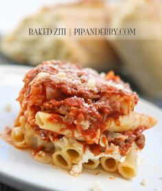 Baked Ziti - one of my FAVORITE family recipes of all time. Loved by all!