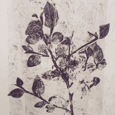 botanical monoprint.