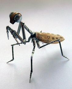 Justin Gershenson nos hace insectos a partir de maquinaria de relojería