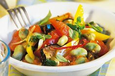 Das Rezept für Ratatouille mit dicken Bohnen mit allen nötigen Zutaten und der einfachsten Zubereitung - gesund kochen mit FIT FOR FUN