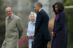 Prinz Philip, Queen Elizabeth II und Barack und Michelle Obama (von links) auf Windsor Castle. Foto: Reuters