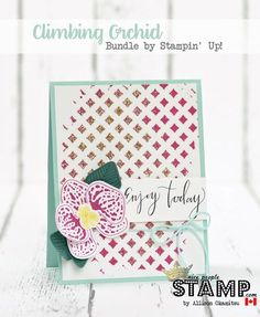 nice people STAMP!: Climbing Orchid Bundle & Embossing Paste + Glitter Technique VIDEO