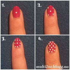 4 steps to perfect polka dots nails! #nails #tutorial #polkadots