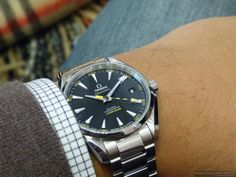 Omega Aqua Terra 15,000 Gauss can withstand 15 times more magnetism than the Rolex Milgauss —1000 gauss.