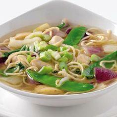 16 oktober - kipfiletblokjes in de bonus - Recept - Chinese miesoep met kip… Asian Recipes, Healthy Recipes, Ethnic Recipes, Soup Recipes, Cooking Recipes, Asian Kitchen, 30 Minute Meals, Camping Meals, Chinese Food