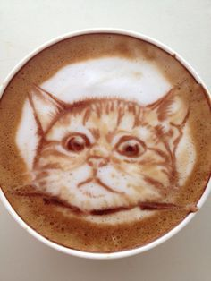 Art in My Coffee: 60 Delicious Examples of Latte Art Coffee Latte Art, I Love Coffee, Coffee Cafe, Coffee Drinks, My Coffee, Coffee Shop, Coffee Barista, Drinking Coffee, Cappuccino Machine